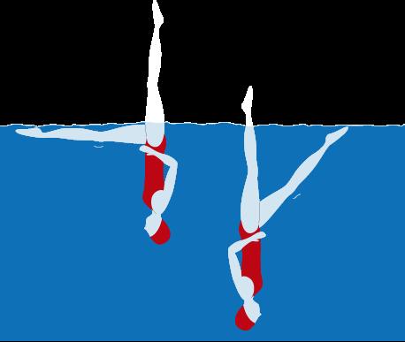 Natación sincronizada: posición cola de pez