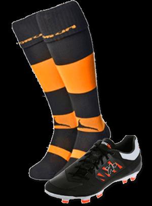 Botas y calcetines de rugby