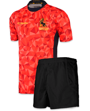 Camiseta y pantalón de rugby