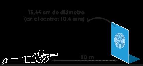 Campo de tiro de rifle de 50m. en posición tendida