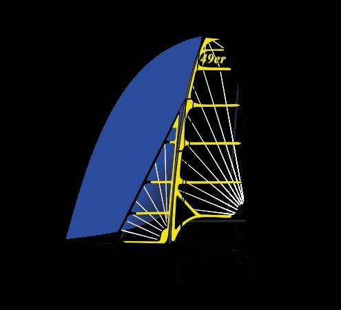 Vela. Barco clase 49er