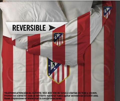 Edredon Atletico.Marca Cojin Edredon Oficial Del Atletico De Madrid
