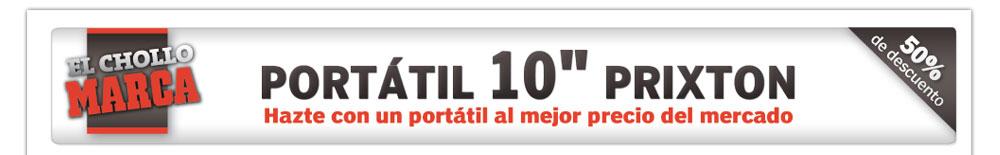 """EL CHOLLO MARCA: PORTÁTIL 10"""" PRIXTON"""