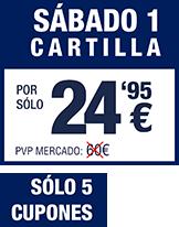 POR SÓLO 24,95€ / SÓLO 5 CUPONES