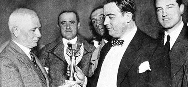 Presentaci�n del trofeo Jules Rimet. FOTO: FIFA.com
