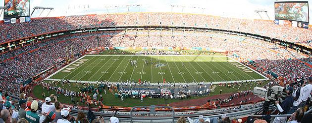 Partido en el Sun Life Stadium de Miami.