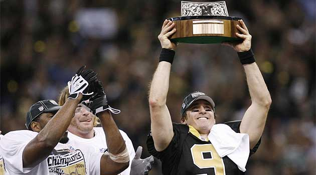 Los Saints ganaron por primera vez el t�tulo de la Conferencia Nacional (NFC) esta temporada