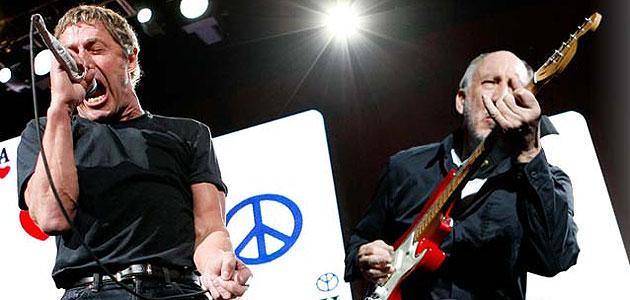 Roger Daltrey y Pete Townshend en una presentaci�n en vivo.
