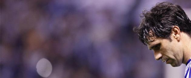 Juan Carlos Valer�n, cabizbajo tras el descenso del Deportivo. FOTO. MARCA