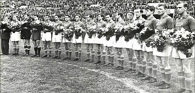 Selección de la URSS participante en los Juegos Olímpicos de Helsinki.