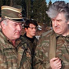 Dos criminales de guerra, Mladic y Karadzic