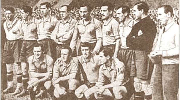 El once del último partido con España de Langara.