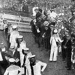 Recibimiento a Boca tras su gira en 1925 por Europa