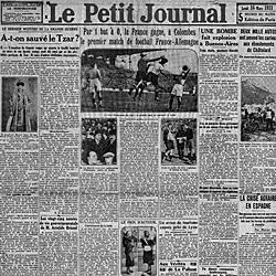 Edición de 'Le Petit Journal' con la crónica del partido.