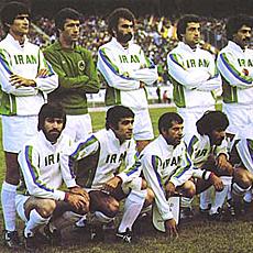Hejazi, con la selecci�n de Ir�n mundialista en 1978.
