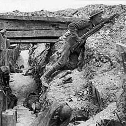 Soldados británicos en las trincheras del Somme