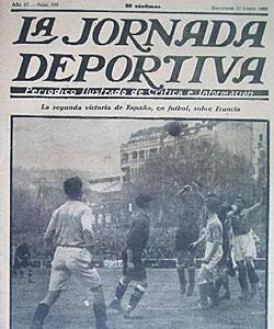 La portada de la Jornada Deportiva tras el Espa�a-Francia de enero de 1923