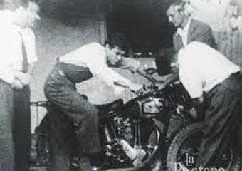 El Che y Alberto Granado, con su moto