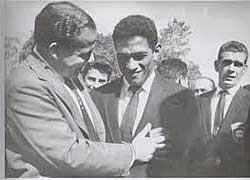 Garrincha, con Joao Goulart, presidente de Brasil (1961-1964)