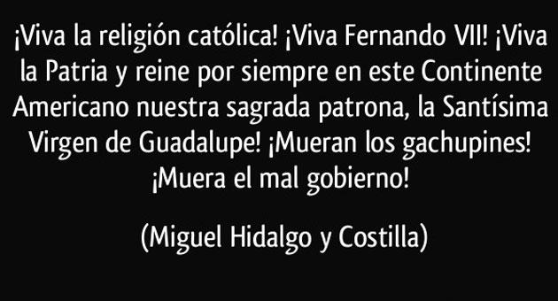 El discurso del cura Hidalgo
