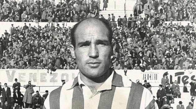 Agustín Gómez, con el Atlético de Madrid.