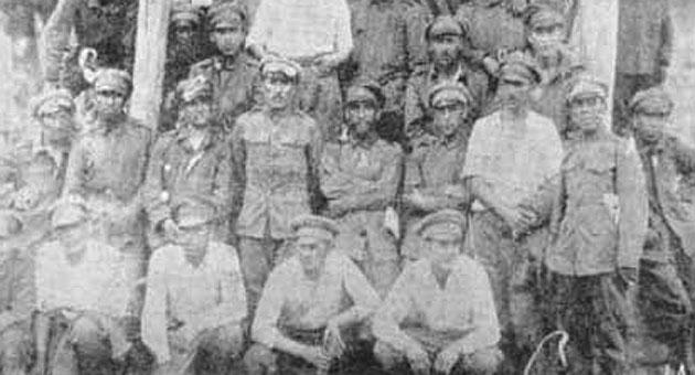 Miembros de The Strongest durante la Guerra del Chaco (© www.club-thestrongest.com)