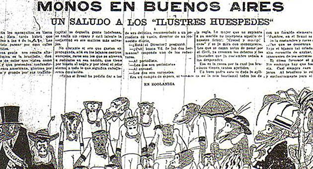 La p�gina del diario Cr�nica de Buenos Aires
