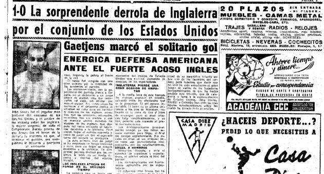 Crónica de MARCA de la victoria de Estados Unidos sobre Inglaterra.